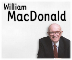 En savoir plus à propos de William MacDONALD